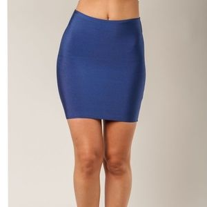 NEW Wow Couture Bandage Mini Skirt - Midnight Blue